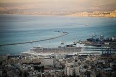 Fantasie die in Haifa dokken Stock Foto's