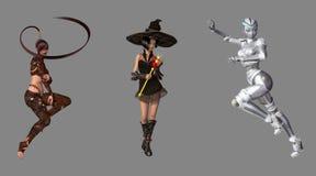 Fantasie-Digital-Charaktere Stockfotos