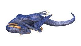 Fantasie-Drache der Wiedergabe-3D auf Weiß Lizenzfreies Stockbild