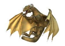 Fantasie-Drache der Wiedergabe-3D auf Weiß Lizenzfreies Stockfoto