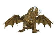 Fantasie-Drache der Wiedergabe-3D auf Weiß Lizenzfreie Stockfotos