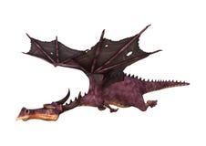 Fantasie-Drache der Wiedergabe-3D auf Weiß Stockbilder