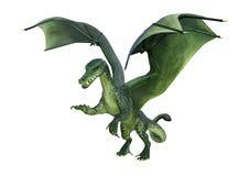 Fantasie-Drache der Wiedergabe-3D auf Weiß Lizenzfreie Stockbilder