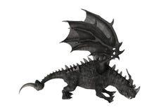 Fantasie-Drache der Wiedergabe-3D auf Weiß Stockfoto