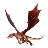 Fantasie-Drache der Wiedergabe-3D auf Weiß Stockfotos
