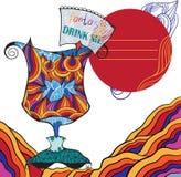 fantasie Drink me stock illustratie