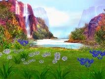 Fantasie dromerig landschap Stock Foto