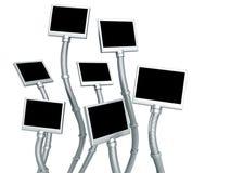 Fantasie en futuristisch geïsoleerdee fotoframe Stock Foto