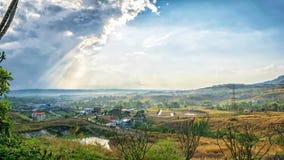 Fantasie en kleurrijk aardlandschap Stock Fotografie