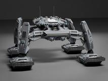 Fantasie Futuristische het lopen Tank Originele authentiek idee en modellering vector illustratie