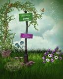 Fantasie-Garten Stockbild