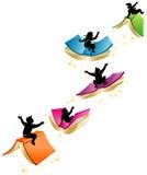 kinder die auf b cher fliegen lizenzfreies stockbild bild 27929276. Black Bedroom Furniture Sets. Home Design Ideas