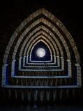 Fantasie gotische overwelfde galerij royalty-vrije stock foto's