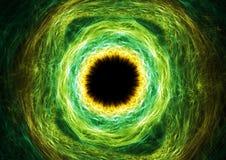 Fantasie groen oog Stock Foto