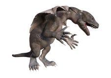 Fantasie Hatchlings-Drache der Wiedergabe-3D auf Weiß Stockfoto