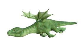 Fantasie Hatchlings-Drache der Wiedergabe-3D auf Weiß Lizenzfreie Stockfotografie