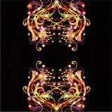 Fantasie heldere zwarte achtergrond Stock Afbeeldingen