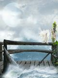 Fantasie lamdscape stock illustratie