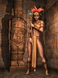 Fantasie Mayan meisje Royalty-vrije Stock Afbeeldingen