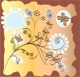 Fantasie met bloemen en vlinders Stock Fotografie