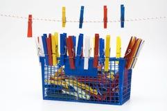 Fantasie met wasknijpers Stock Afbeelding