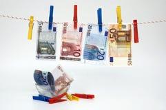 Fantasie met wasknijpers en bankbiljetten Royalty-vrije Stock Fotografie