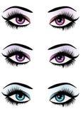 Fantasie mustert Make-up Lizenzfreie Stockbilder