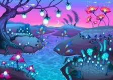 Fantasie nachtelijk landschap