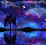 Fantasie Nightscape Stockfotos
