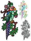 Fantasie-Papagei Lizenzfreie Stockfotos