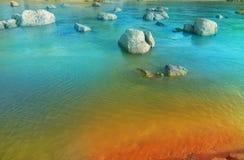 Fantasie-Paradies-Fluss Stockfotografie