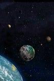 Fantasie-Planeten-Sonnensystem Lizenzfreie Stockfotografie