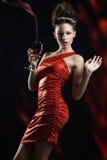 Fantasie in rood Stock Foto's