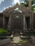 Fantasie-Ruinen lizenzfreie abbildung
