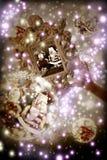 Fantasie-Santa Claus Christmas-Grußkarte Lizenzfreie Stockfotografie