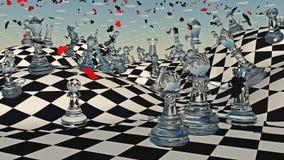 Fantasie-Schach Stockbilder