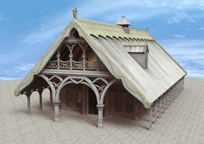 Fantasie-Tempel Stockfoto