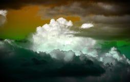 Fantasie torenhoge wolken Stock Fotografie