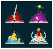 Fantasie-und Sciencefictions-Bücher eingestellt Stockbild