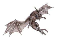 Fantasie-Vampirs-Drache der Wiedergabe-3D auf Weiß Stockbild