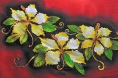 Fantasie van bloemenbatik Stock Afbeelding