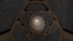 Fantasie van de passage de geheime tunnel royalty-vrije illustratie
