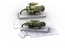 Fantasie-Waffen-Puzzlespiel vektor abbildung