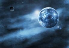 Fantasie-Weltraum-Zeichnung stock abbildung