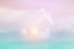 Fantasie zachte wolk met de kleur van de pastelkleurgradiënt Royalty-vrije Stock Afbeelding