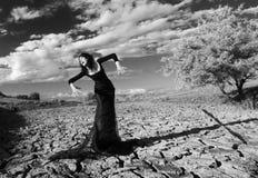 Fantasieartporträt einer heulenden Frau Stockfotografie