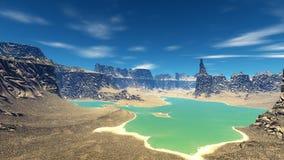 Fantasieausländerplanet Wiedergabe 3d Stockfoto