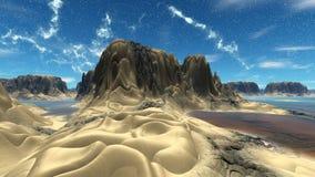 Fantasieausländerplanet Wiedergabe 3d Stockfotografie