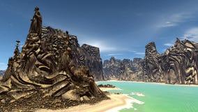 Fantasieausländerplanet Wiedergabe 3d Lizenzfreies Stockbild