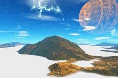 Fantasieausländerplanet Wiedergabe 3d Stockbilder
